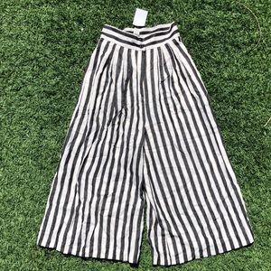 H&M Wide Leg Striped Pants
